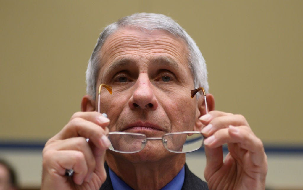 Dr. Anthony Fauci glasses